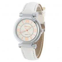 Часы женские наручные Geneva Wish белый ремешок 129-4