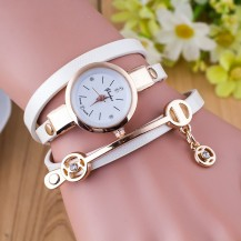 Часы-браслет длинные, наматывающиеся на руку 102-1 белые