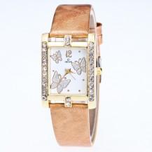 Часы женские Бабочки золотистые 126-4