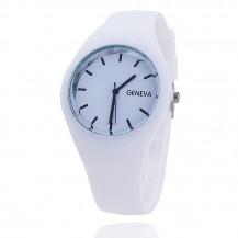 Часы женские Женева Geneva силиконовые белые 122-5