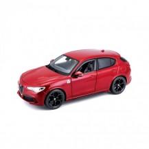 Автомодель - ALFA ROMEO STELVIO (красный металлик, 1:24) от Bburago - под заказ