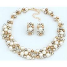 Набор Жемчужный ожерелье и серьги tb1266