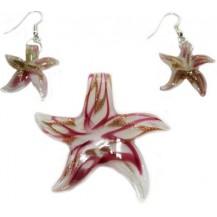 Набор Морская звезда. Муранское стекло (S12)
