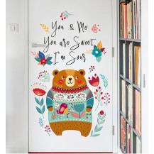 Интерьерная наклейка на стену Бохо Мишка XL8358