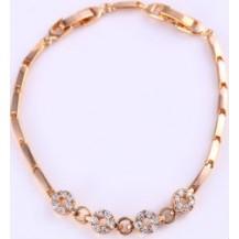 Браслет позолоченный gold filled с цирконами (GF778
