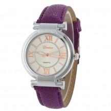 Часы женские наручные Geneva Wish сливовый ремешок 129-5