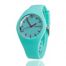 Часы женские Женева Geneva силиконовые мята 122-6