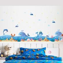 Детская интерьерная наклейка на стену Море XL7149