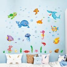 Детская интерьерная наклейка на стену Рыбки XL7206