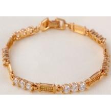 Браслет позолоченный gold filled с цирконами (GF782