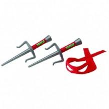Набор игрушечного оружия серии ЧЕРЕПАШКИ-НИНДЗЯ - боевое снаряжение Рафаэль (2 кинжала-сай, бандана)
