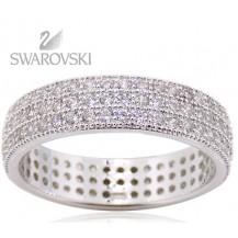 Кольцо с кристаллами Swarovski. Серебро 925. (BS15) Размер 18
