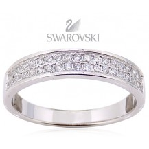 Кольцо. Серебро 925. Swarovski zirconia (BS18). Размер 17