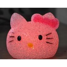 Ночник-хамелеон hello kitty кристалл
