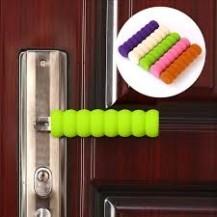 Мягкая защита на ручку двери от ударов Зеленая