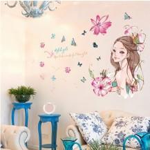 Интерьерная наклейка на стену Стильная Девушка XL7162