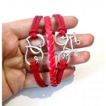 Браслет Велосипед ретро 4в1 tb8023 (красный)